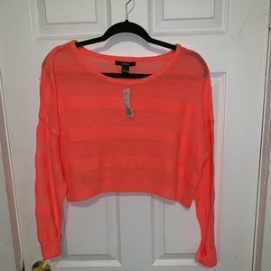 Forever 21 crop long sleeve sweater